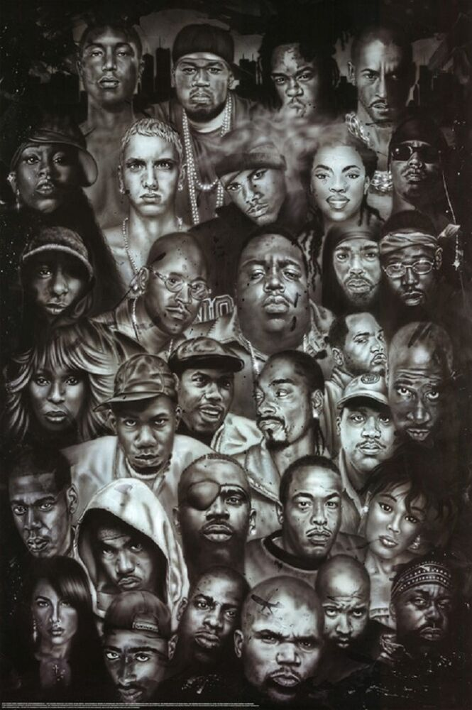 Legends of Rap and Hip Hop Poster Print 24x36 | eBay