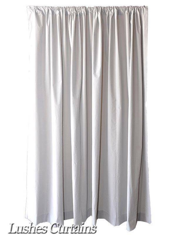 16ft H Gray Velvet Curtain Long Panel Extra Tall Wide Wall