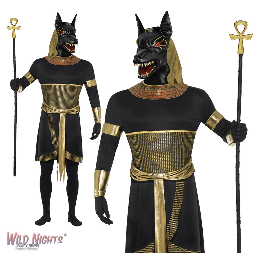 MENS ZOMBIE ANUBIS THE JACKAL COSTUME ADULT HALLOWEEN FANCY DRESS ...