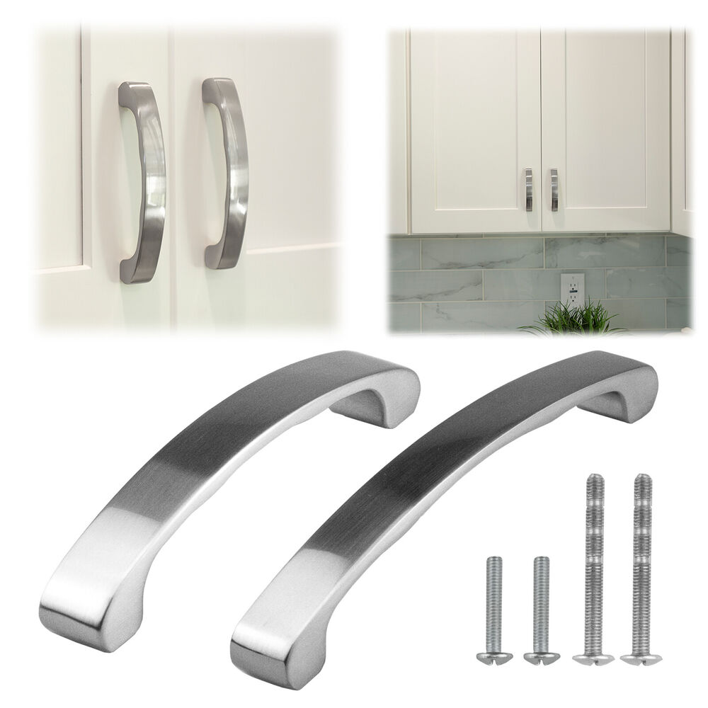 4 6 inch brushed nickel cabinet pulls drawer handle for 4 kitchen cabinet pulls