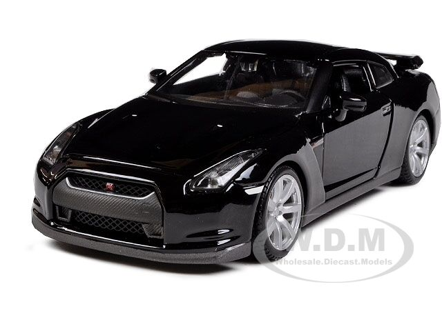 2009 nissan gt r r35 black 1 24 diecast car model by. Black Bedroom Furniture Sets. Home Design Ideas