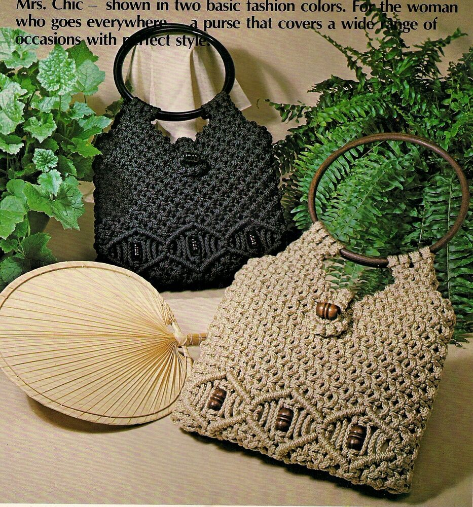Macrame Purse Patterns Free : Round Handle Beaded Purse Patterns - Craft Books: The Macrame ...