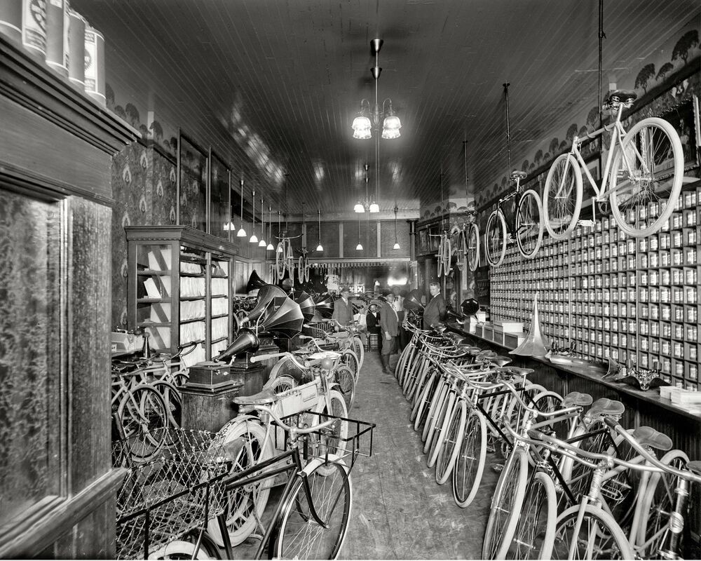1912 bicycle shop detroit michigan 8 x 10 8x10 glossy photo picture ebay. Black Bedroom Furniture Sets. Home Design Ideas