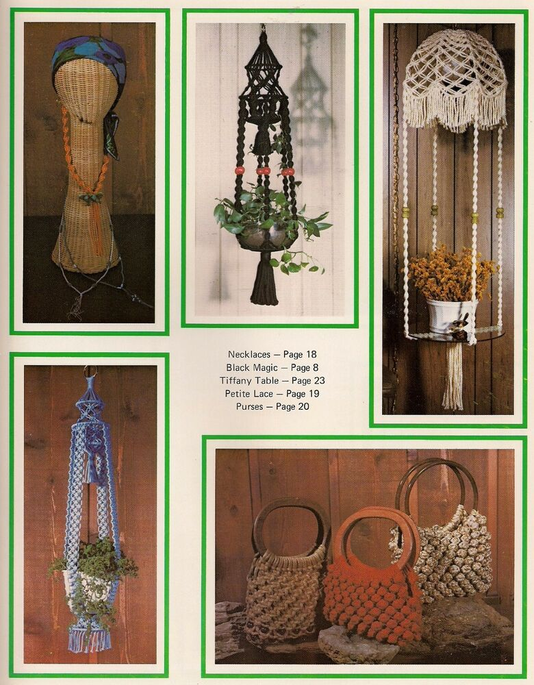 Hanging Table Amp Purse Patterns Craft Book What In The