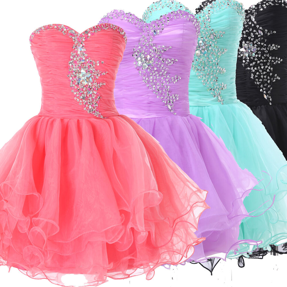 GRADUATION QUINCEANERA MASQUERADE GOWNS FORMAL EVENING PARTY SHORT ...