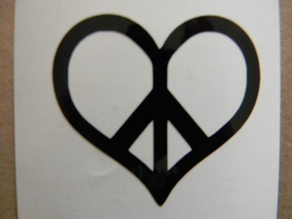 Truck Stickers For Back Window >> Peace Sign Heart Vinyl Decal Sticker Choose your Color and Size | eBay