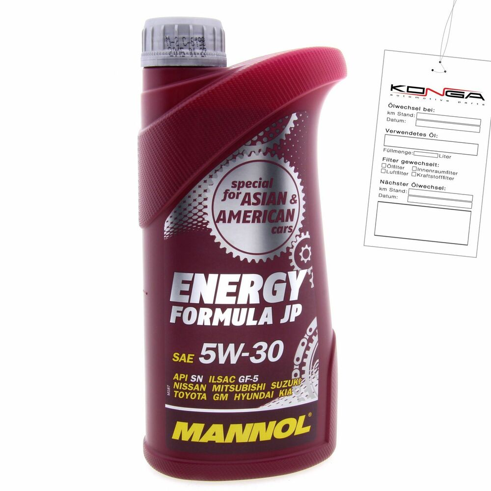 1 liter mannol energy formula jp 5w 30 api sn motor l 5w30 ebay. Black Bedroom Furniture Sets. Home Design Ideas