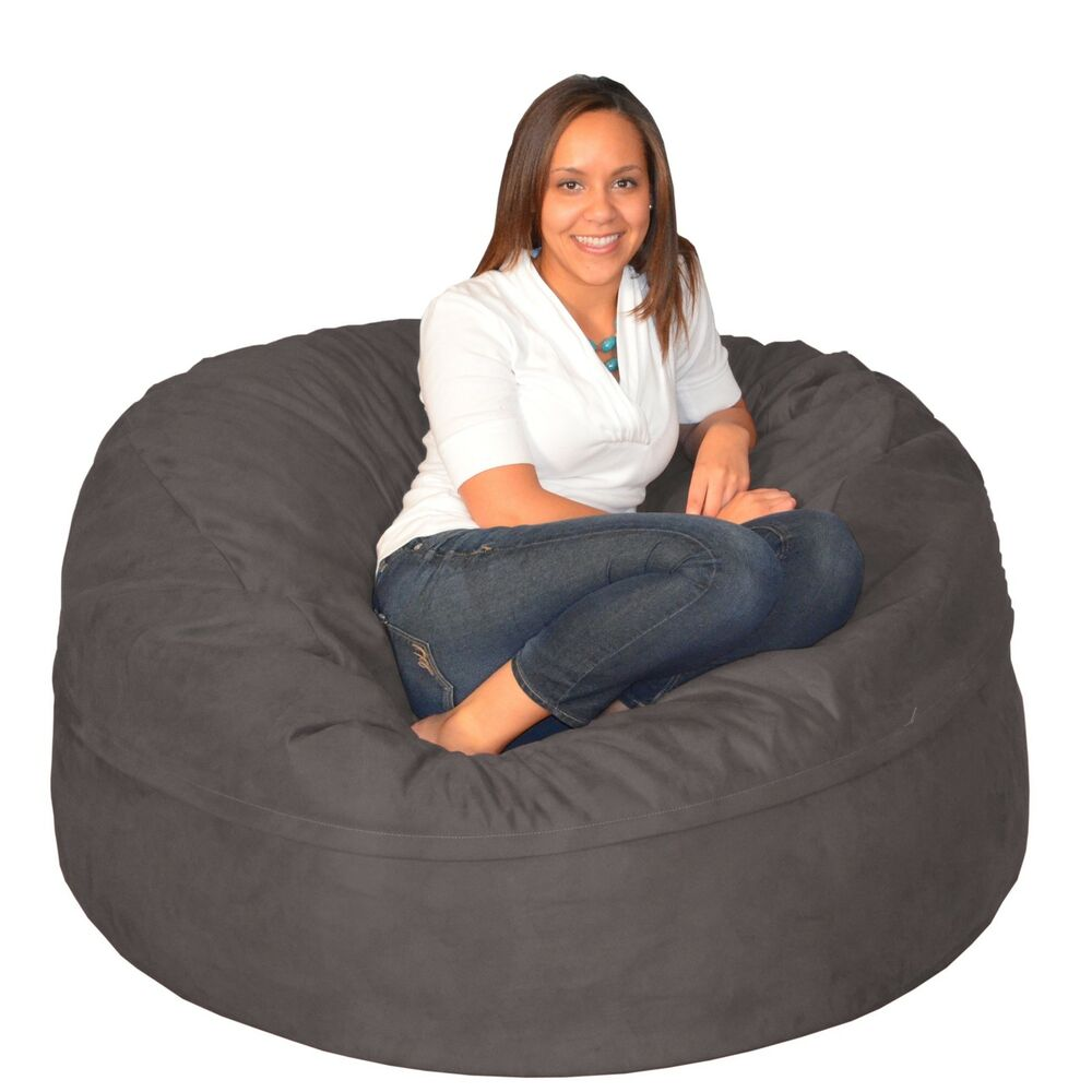 large memory foam bean bag 5 foot foam chair ebay. Black Bedroom Furniture Sets. Home Design Ideas
