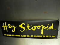 ALICE COOPER Promo Poster STOOPID avail on July 2, 1991