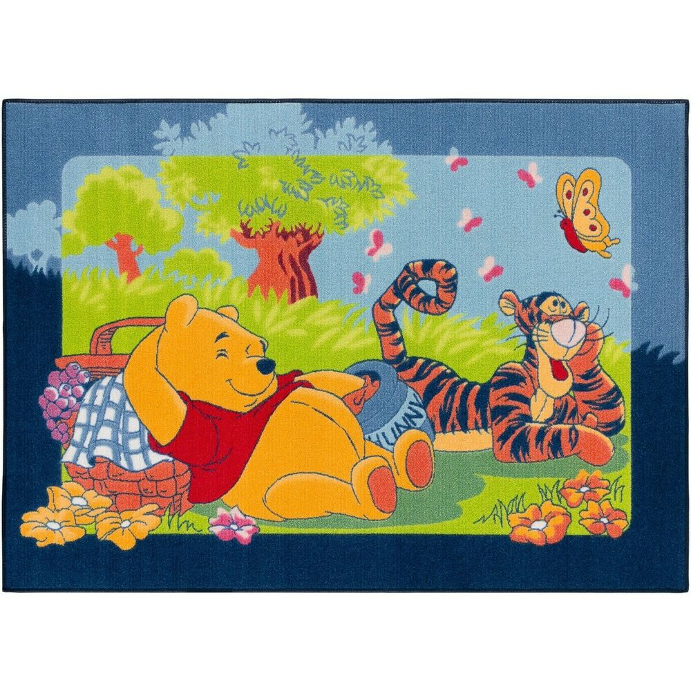 teppich kinderteppich aw winnie pooh picknick spielteppich. Black Bedroom Furniture Sets. Home Design Ideas