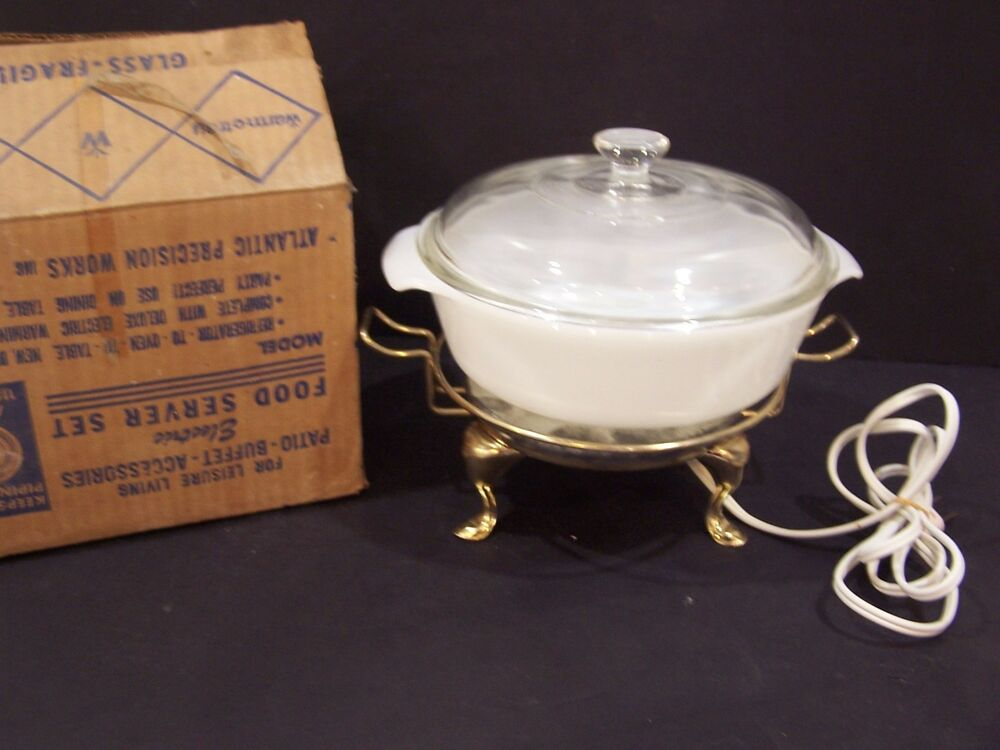 Cooking Warmers Vintage Fireplace ~ Vintage warm o tray fire king qt casserole dish