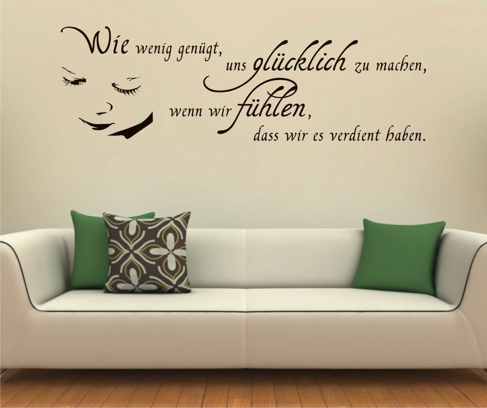 wandtattoo zitate angebote auf waterige. Black Bedroom Furniture Sets. Home Design Ideas