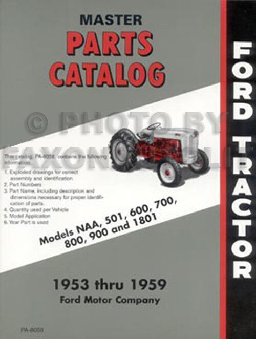 1960 Ford Tractor 601 : Ford tractor manual set shop