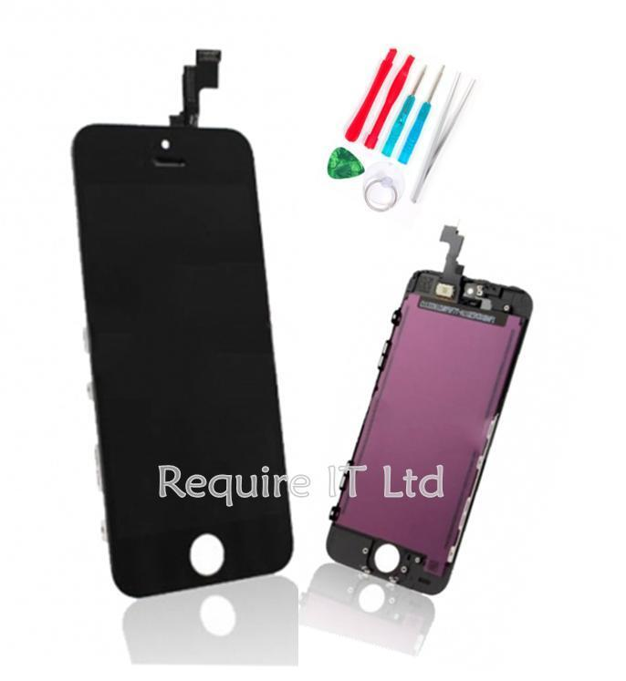 new black iphone 5s touch screen display assembly with tools for model a1457 ebay. Black Bedroom Furniture Sets. Home Design Ideas