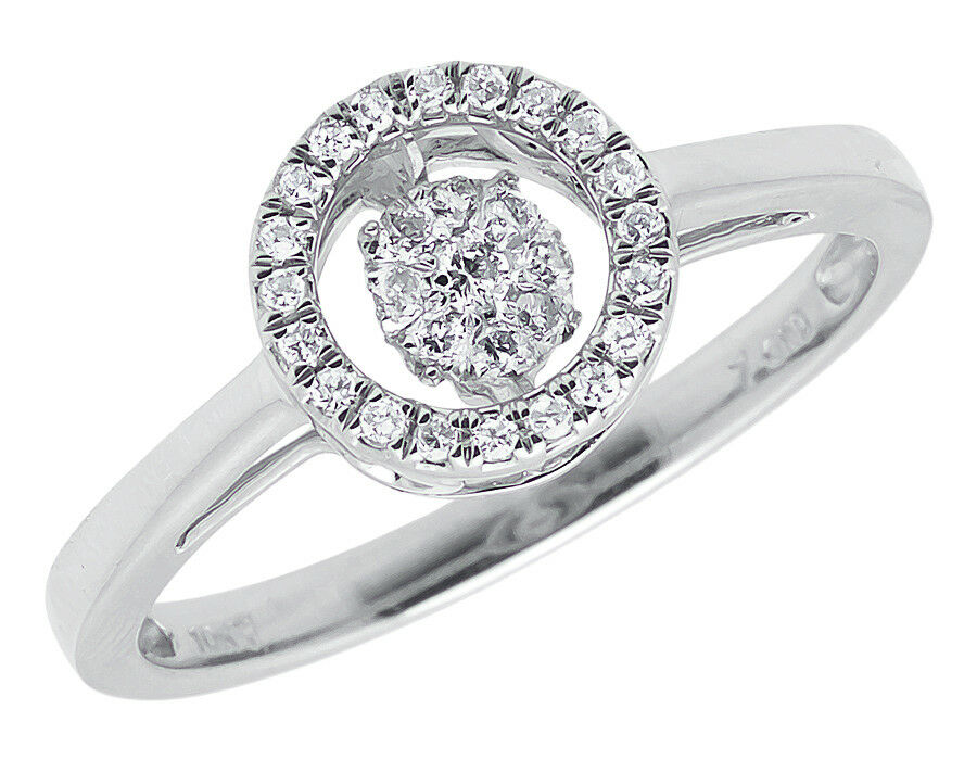 Ct White Gold Cluster Ring