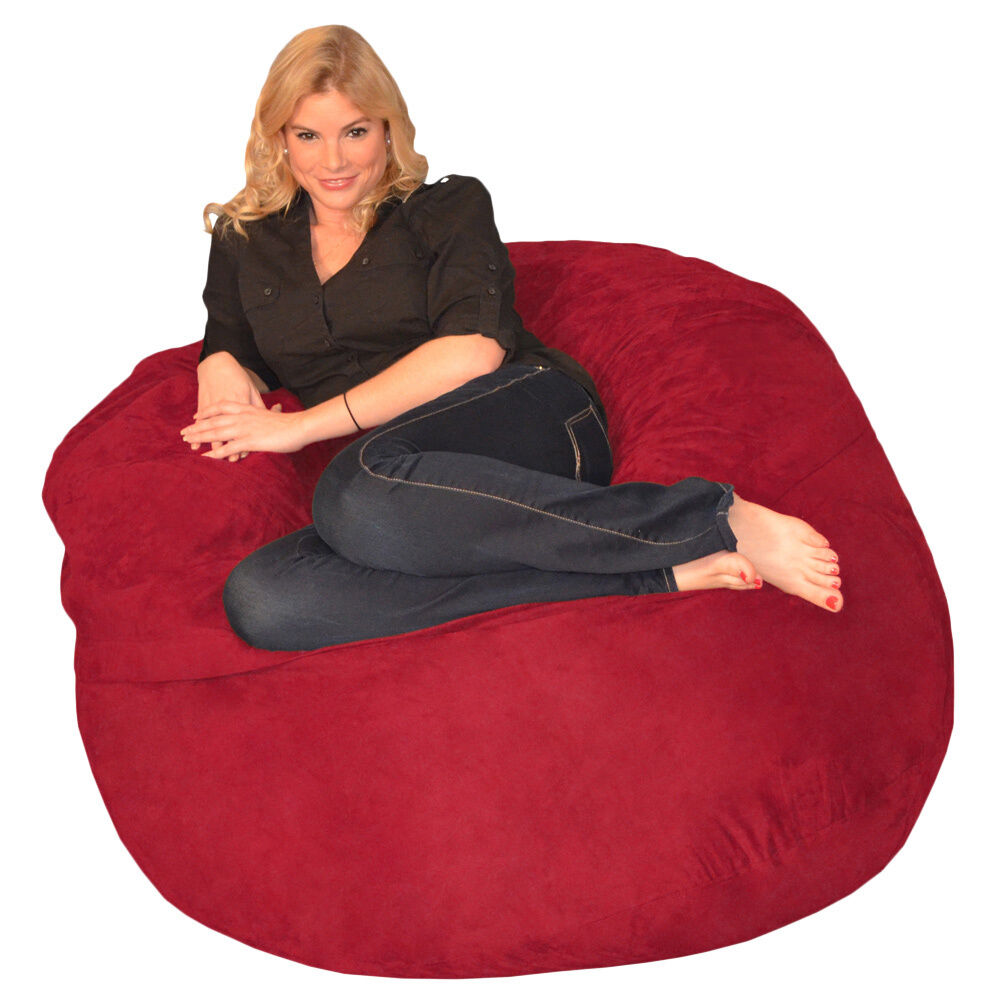 memory foam bean bag 4 foot chair ebay. Black Bedroom Furniture Sets. Home Design Ideas
