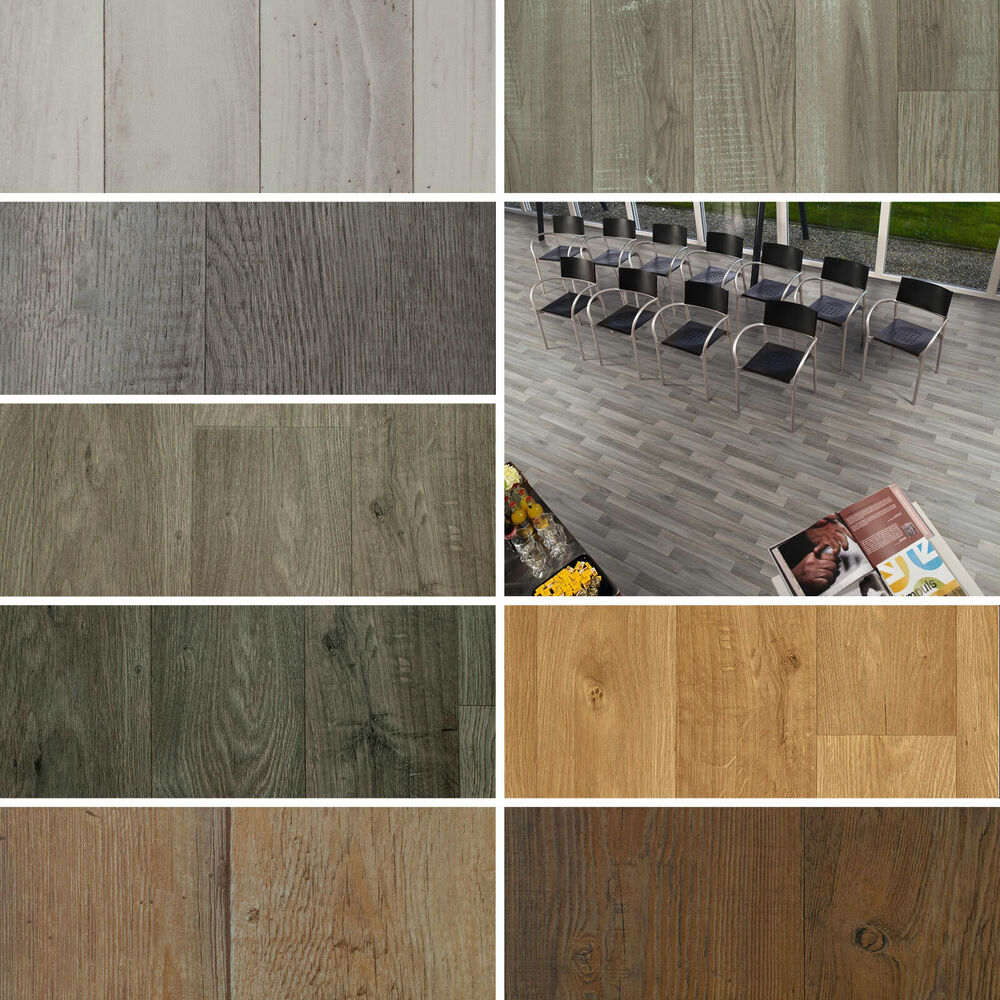 Wood Plank Vinyl Flooring Roll Quality Lino Anti Slip
