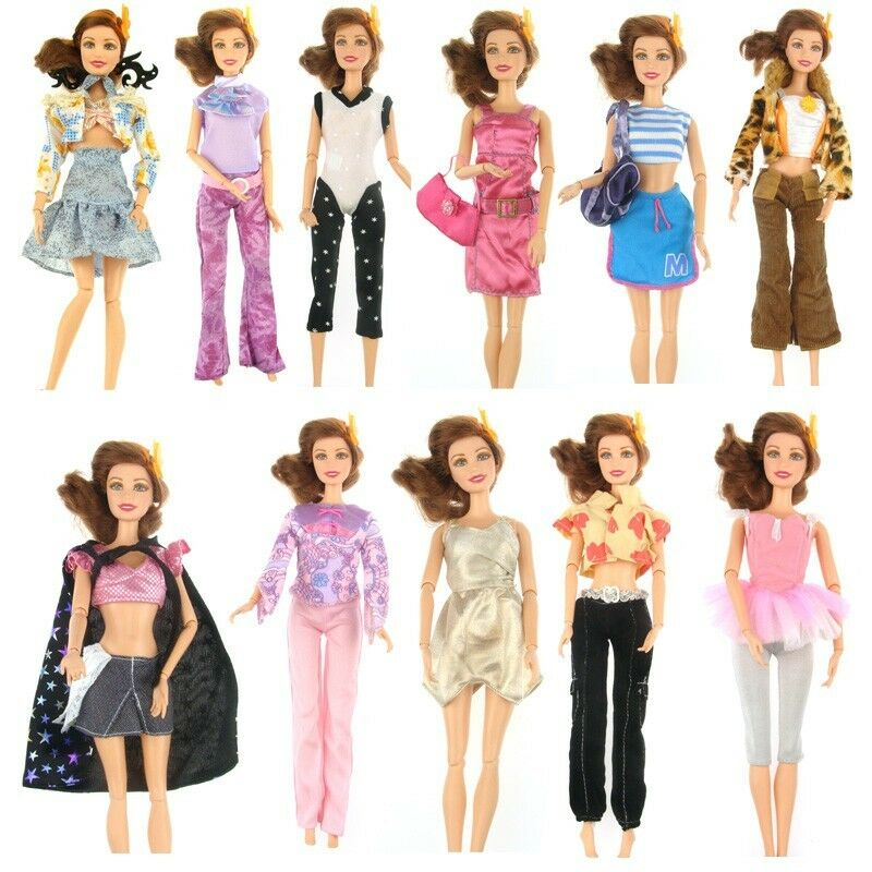 15 Items Fashion Party Daily Wear Dress Outfits Clothes Shoes For Barbie Doll Ebay