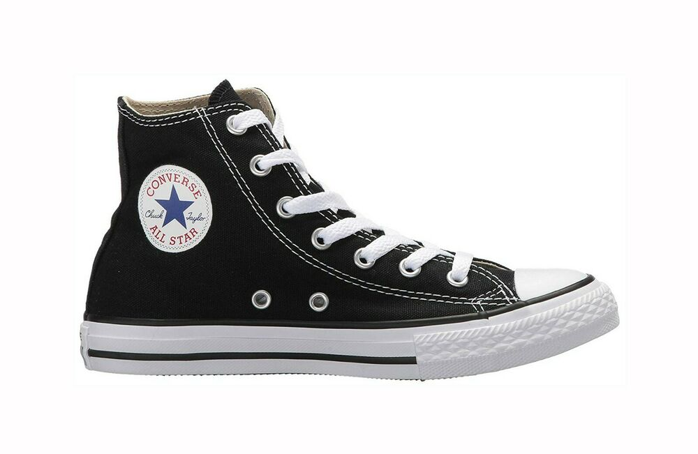 dfd68cceaa4b Details about Converse Chuck Taylor All Star High Top Canvas Boys Shoes  3J231 - Black White
