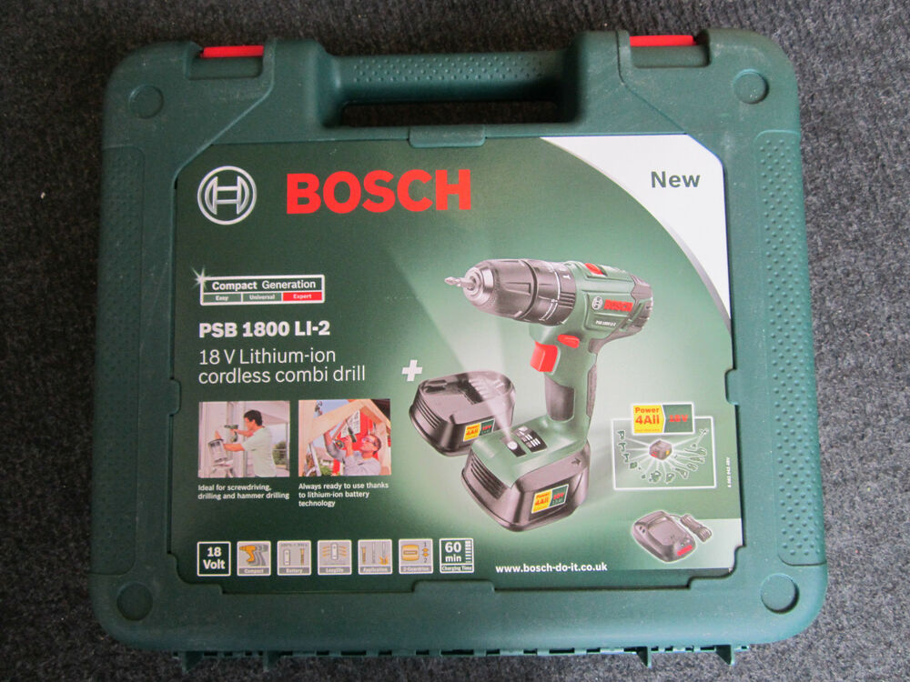 genuine empty carry case for bosch psb 1800 li 2 18v cordless impact drill ebay. Black Bedroom Furniture Sets. Home Design Ideas