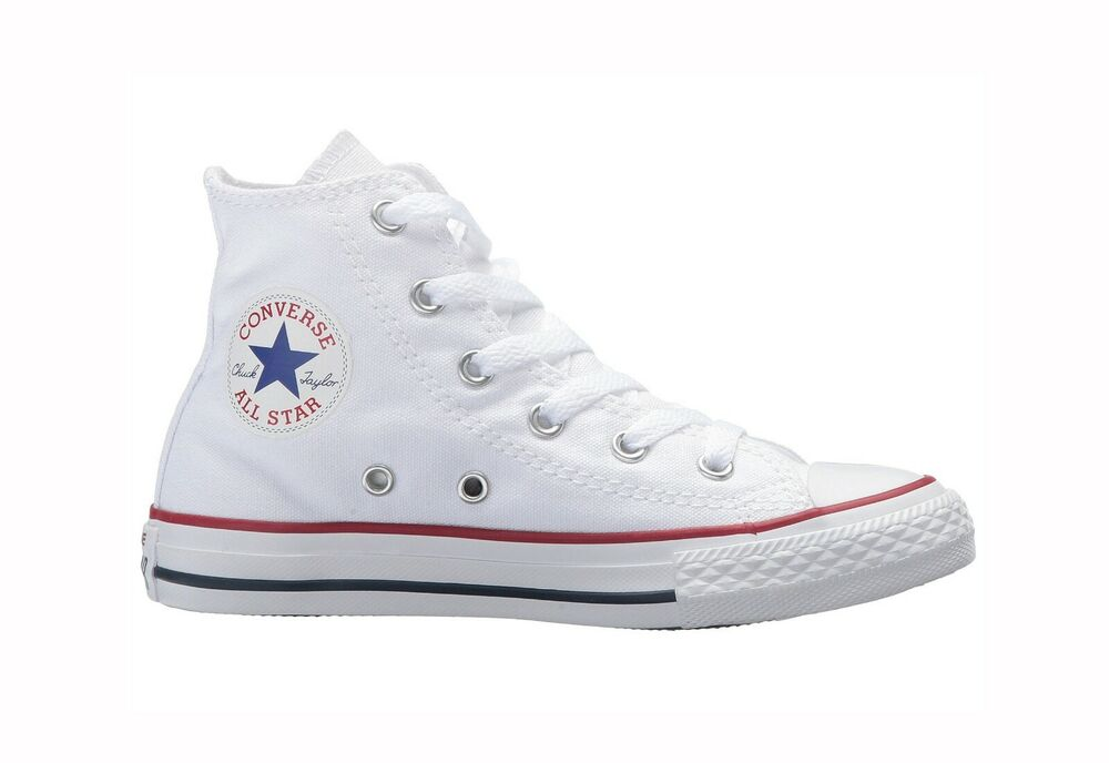 1ba2a89f5cdc Details about Converse Chuck Taylor All Star High Top Canvas Boys Shoes  3J253 - Optical White