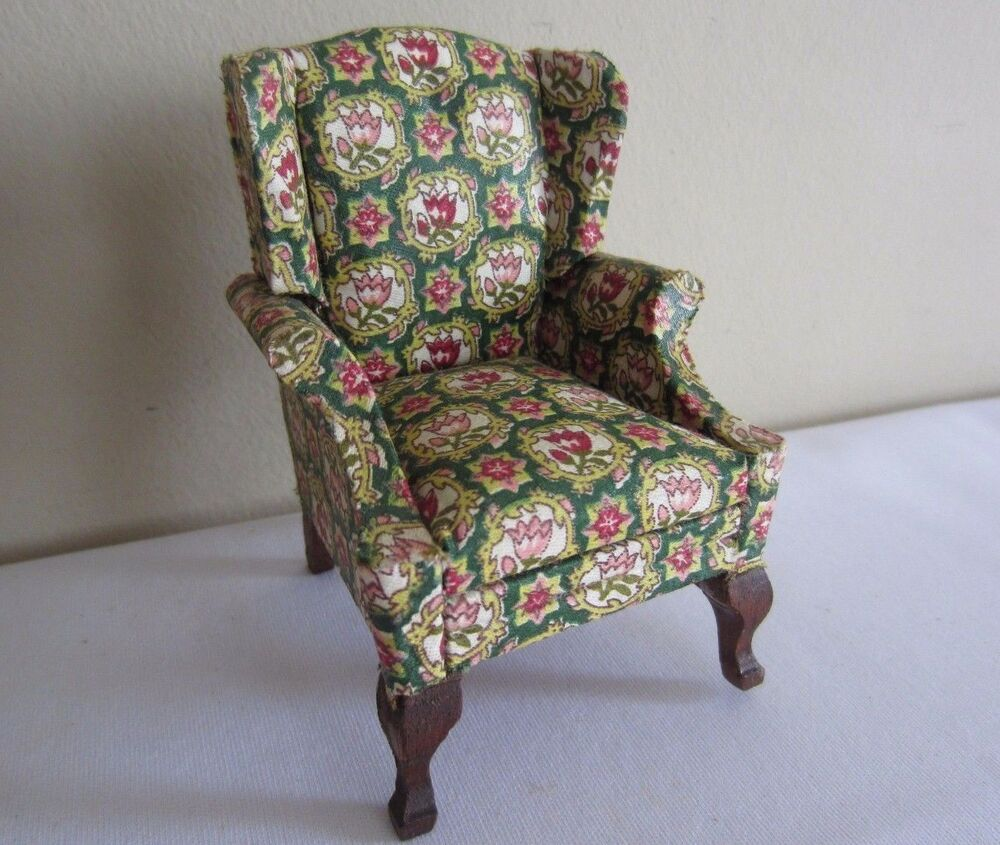 Furniture Upholstry: Dollhouse Miniature Furniture Upholstered Tulip Fabric