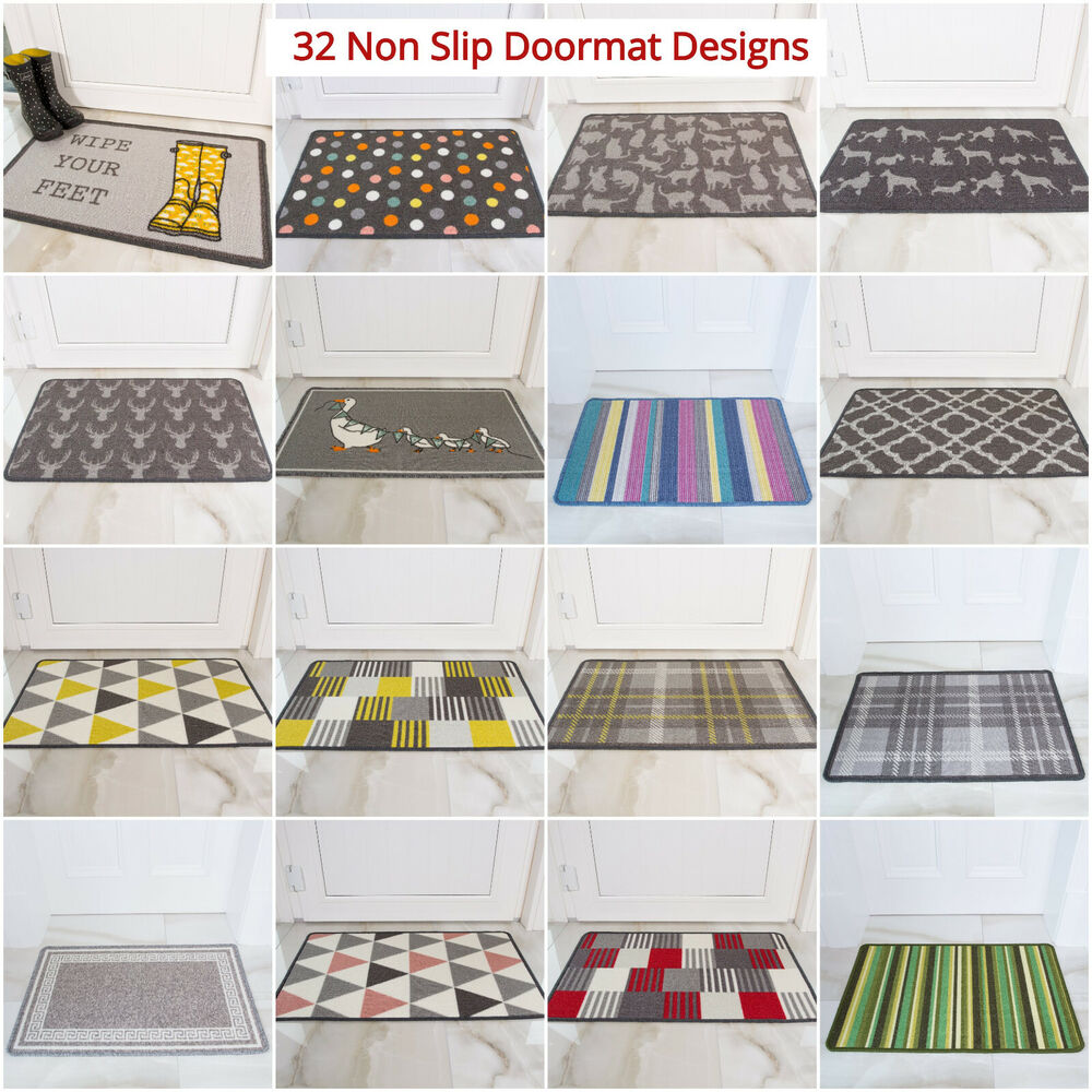 Cheap Washable Rugs Uk: Non Slip Rubber Washable Rugs Easy Clean Runner Mat Door