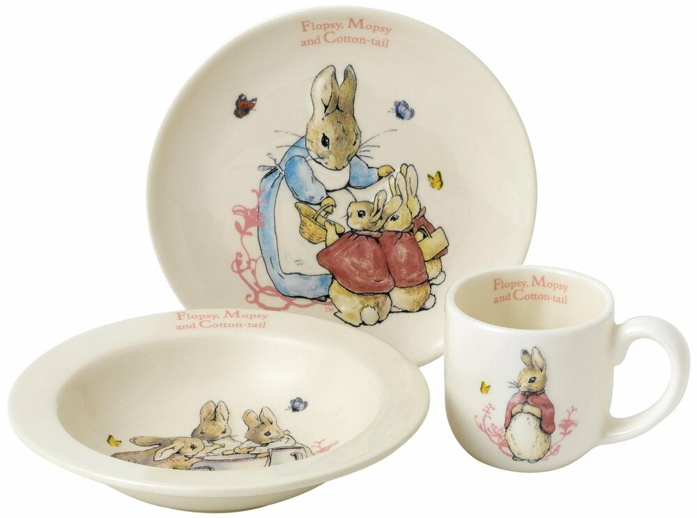 Peter Rabbit Baby Gift Sets : Peter rabbit flopsy mopsy cotton tail nursery baby