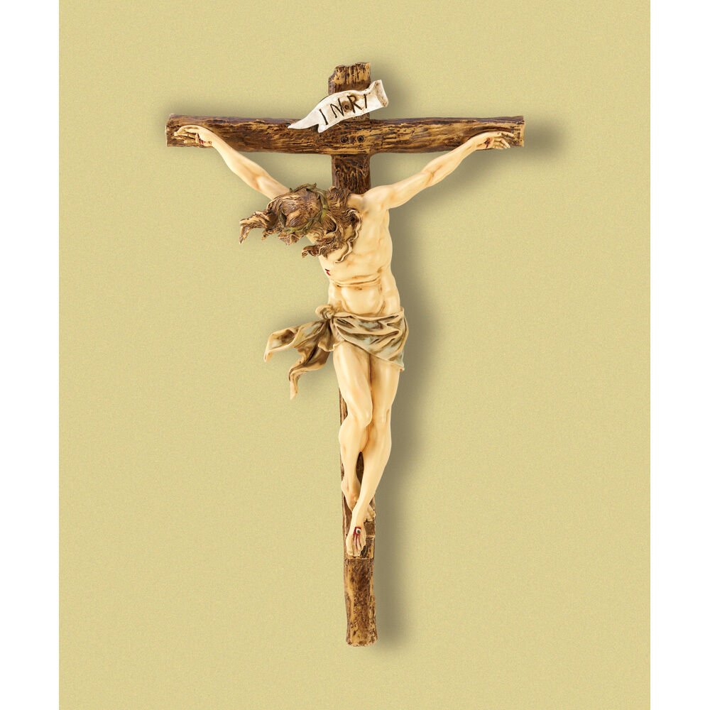 "CRUCIFIX JESUS Statue LARGE 20"" Wall CROSS Big Christian ..."