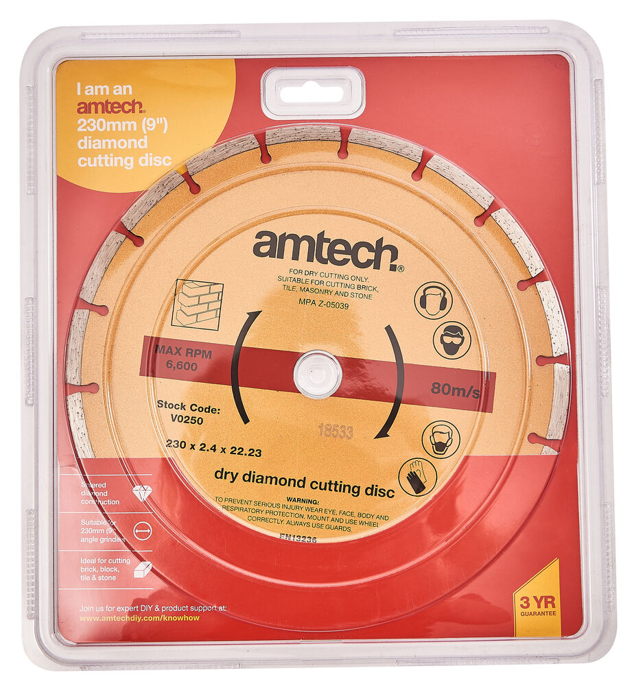 230mm Diamond Cutting Disc Angle Grinder Stone Brick