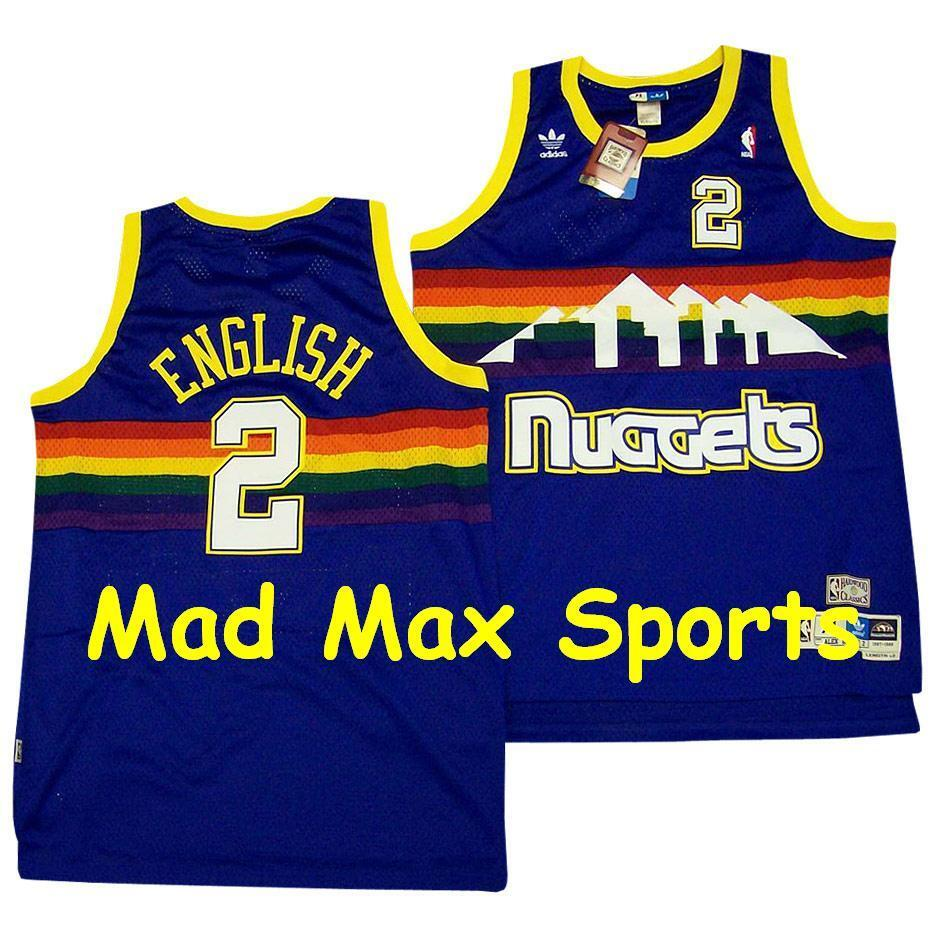 Nuggets English Jersey: ALEX ENGLISH Denver NUGGETS Blue RC Road Hardwood