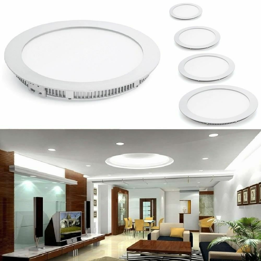 Home Lighting Down Lights Circuit On Rcd: WHITE LED RECESSED PANEL LIGHT CEILING DOWN SLIM ROUND