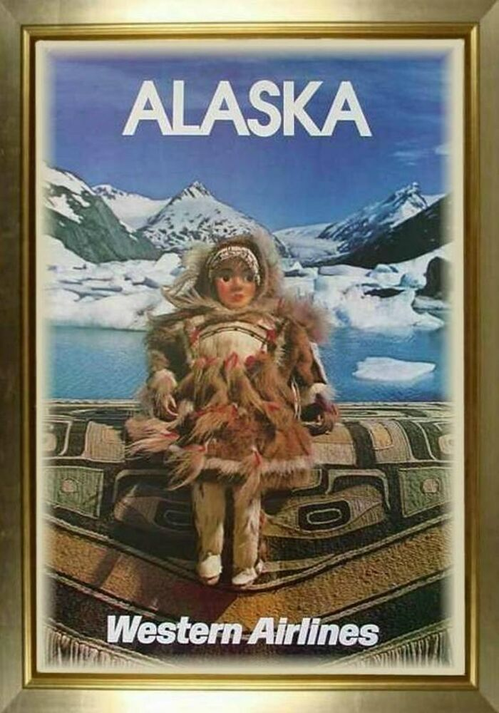 Magnet Travel Poster Photo Magnet Alaska Western Airlines