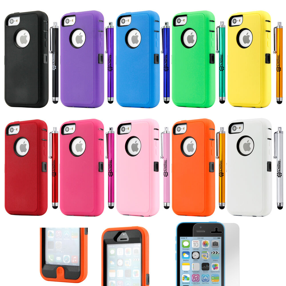 iphone 5c covers heavy duty shockproof rugged hybrid cover for 11092