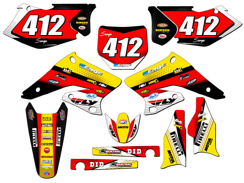 2004 2005 2006 rmz 250 graphics kit suzuki rmz250 deco for Sticker deco
