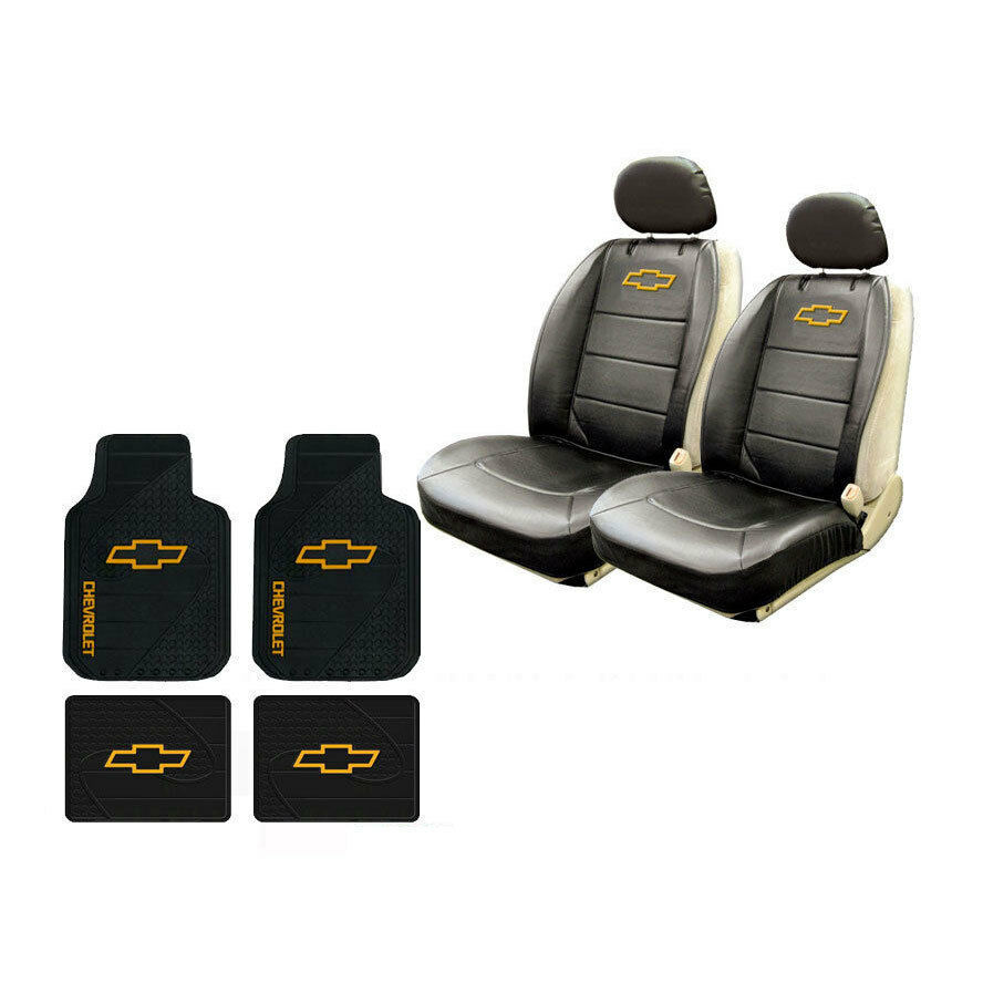 New Chevy Bowtie Logo Car Truck 2 Front Sideless Seat