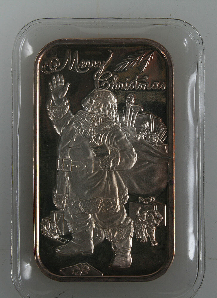 1993 Merry Christmas Silver Ingot Art Bar 999 Unc Ebay