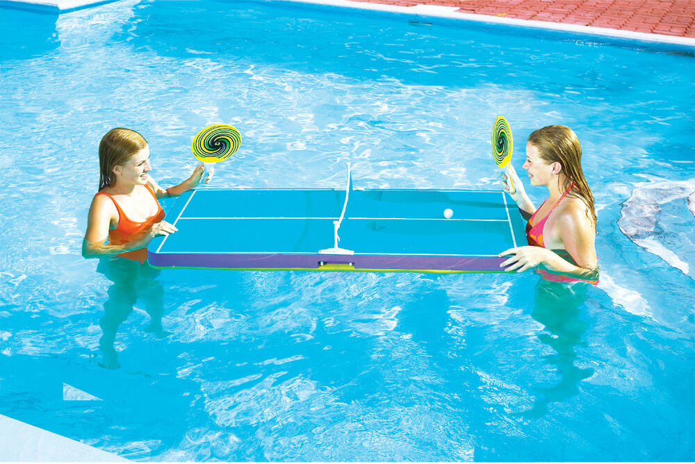 swimline 9164 swimming pool floating ping pong table tennis game for kids ebay