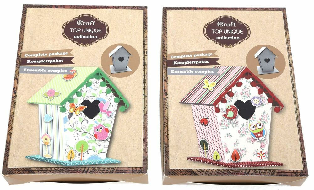 Make Your Own Birdhouse Childrens Card Paper Craft Kit