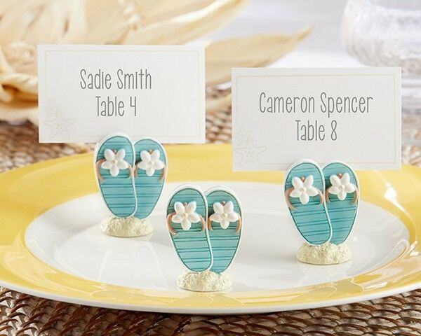 Wedding Gift Card Holder Beach Theme : ... Beach Theme Flip Flop Photo Place Card Holders Wedding Favors eBay