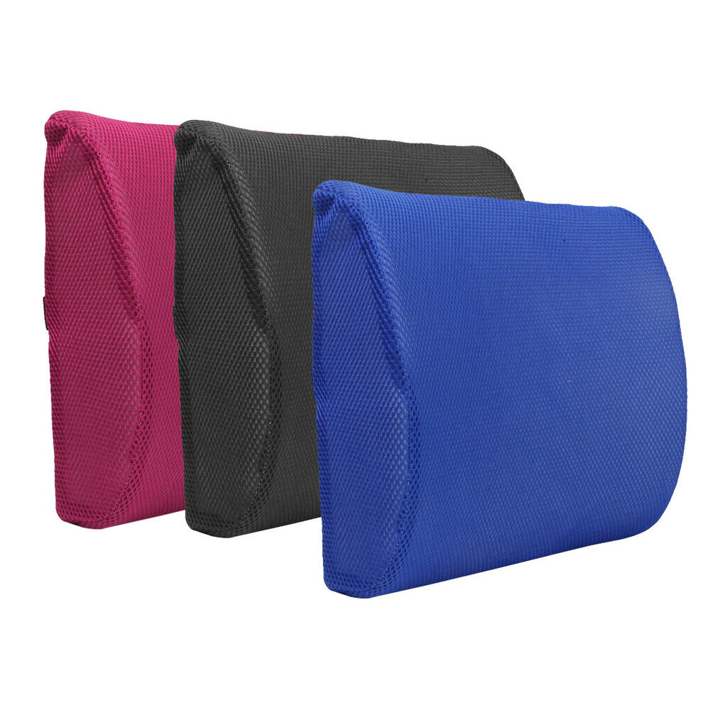 car office mesh wedge memory foam lower back posture seat cushion lumbar support ebay. Black Bedroom Furniture Sets. Home Design Ideas