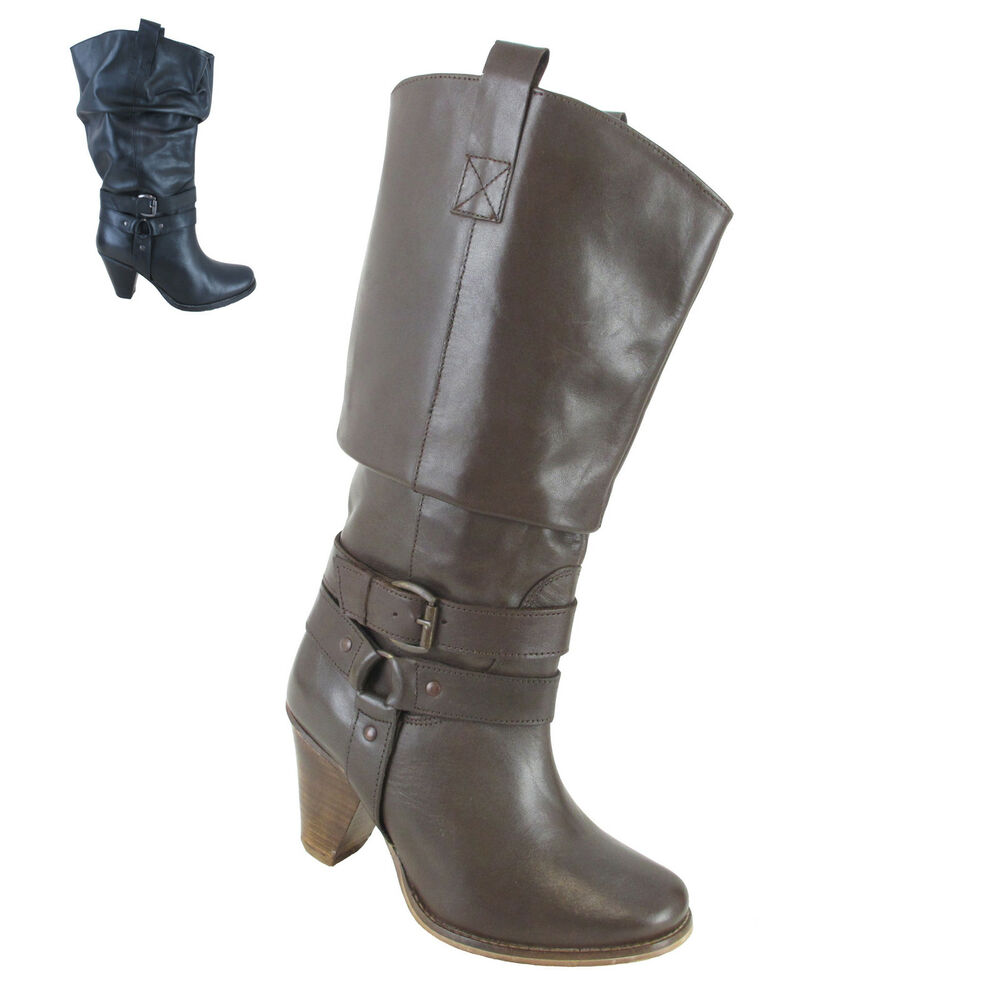 marken weitschaftstiefel leder damen schuhe damenstiefel stiefel echtleder neu ebay. Black Bedroom Furniture Sets. Home Design Ideas