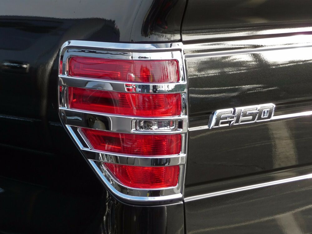 ford f150 truck 2009 2014 tfp abs chrome tail light cover insert. Black Bedroom Furniture Sets. Home Design Ideas