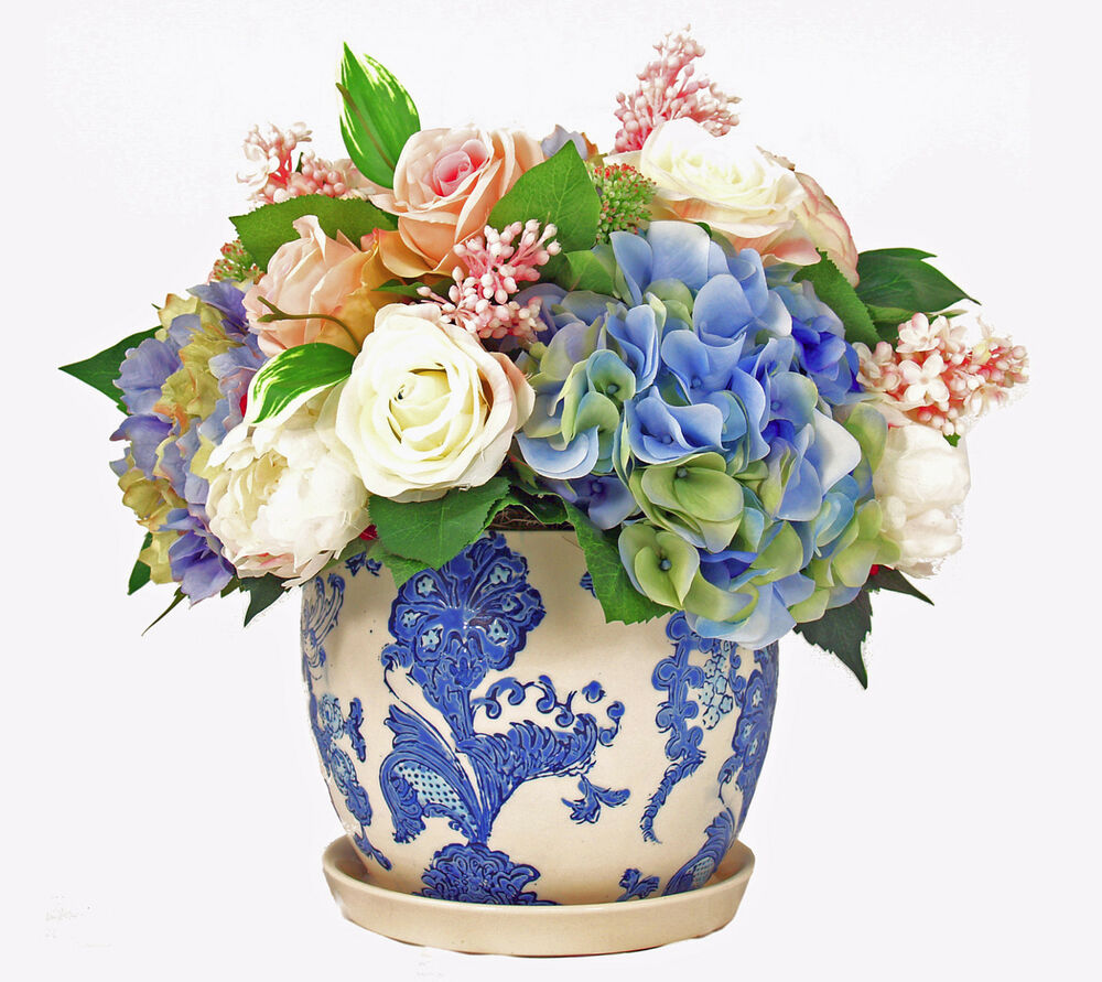Flower arrangements victorian hydrangea bouquet silk