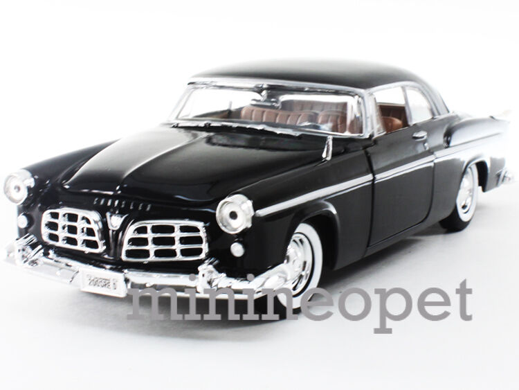 motormax 73302 1955 55 chrysler c300 1  24 diecast black