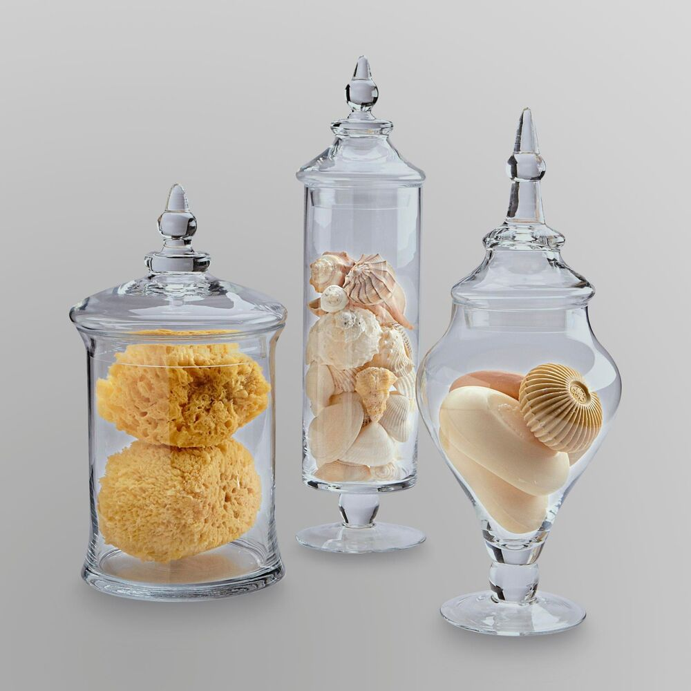 Apothecary Jar Clear Glass With Lid Candy Wedding Gift