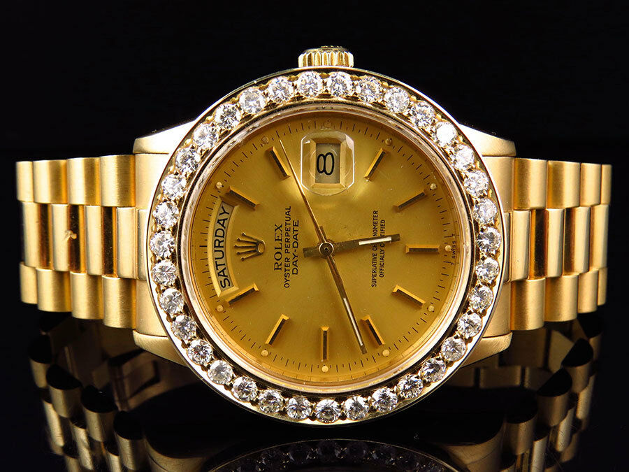 18k Yellow Gold Mens 36 Mm Rolex President Day Date 18038