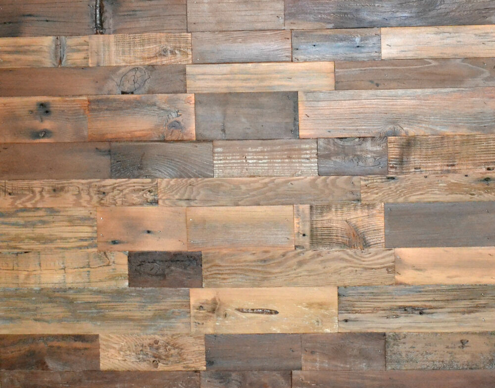 Rustic Wall Paneling ~ Salvaged barnwood art backsplash headboard wedding