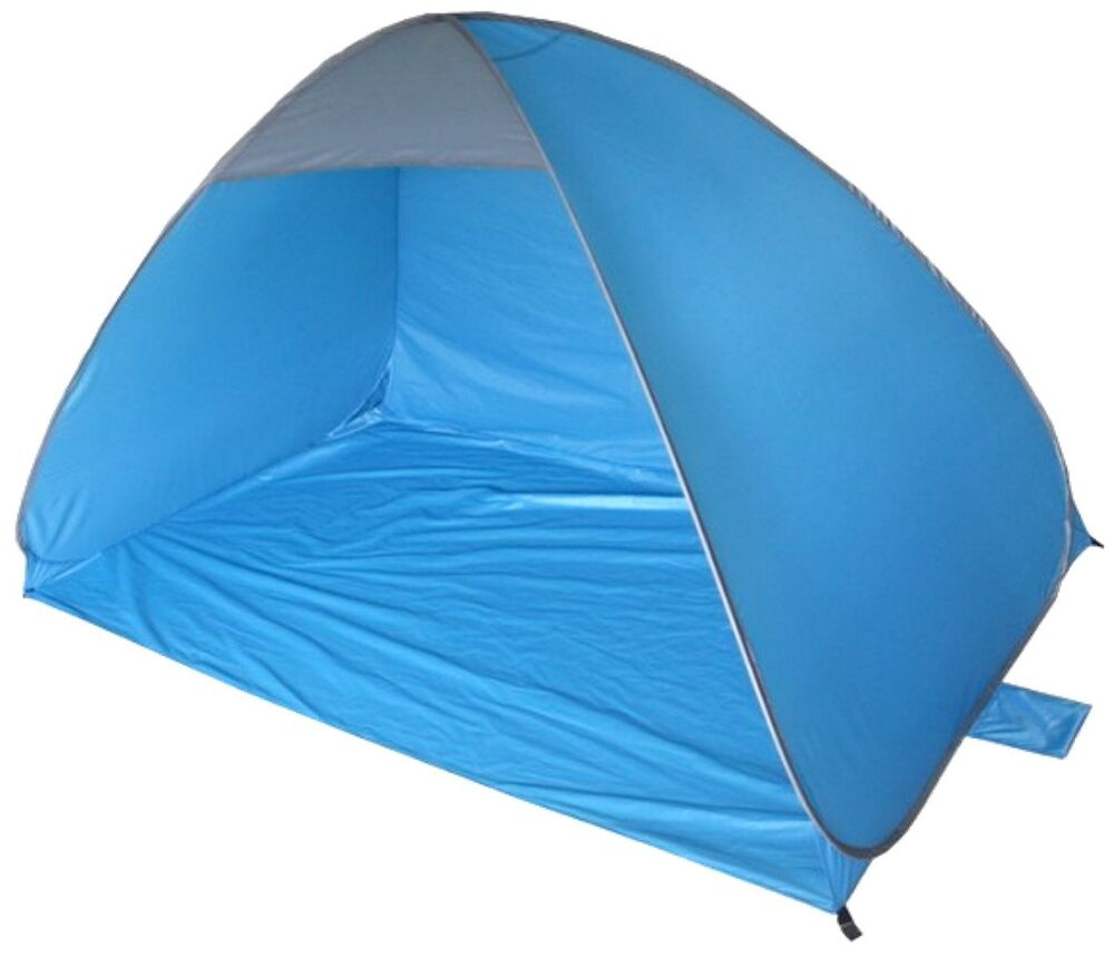 2m x 1 2m blue instant pop up beach camping fishing shelter dome tent ty3690 ebay. Black Bedroom Furniture Sets. Home Design Ideas