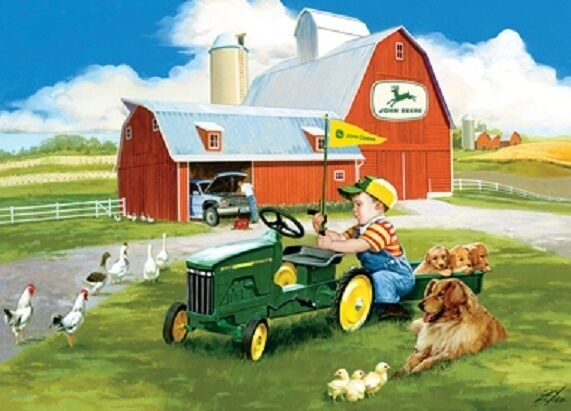 Farm Implement Pieces : Jigsaw puzzle farm life tractor john deere little handyman